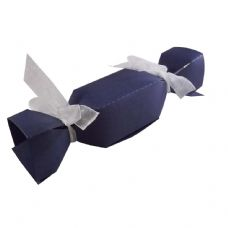 Navy Blue Cracker Designer Favour Boxes